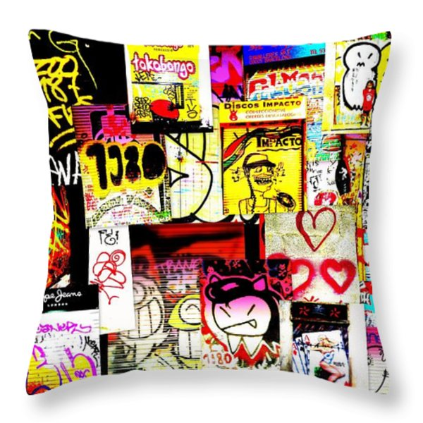 Hola Barcelona Throw Pillow by Funkpix Photo Hunter