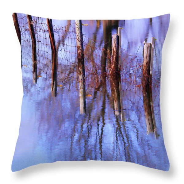 Holding Steadfast Throw Pillow by Cathy  Beharriell