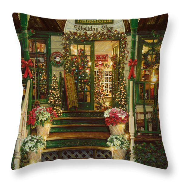 Holiday Treasured Throw Pillow by Doug Kreuger