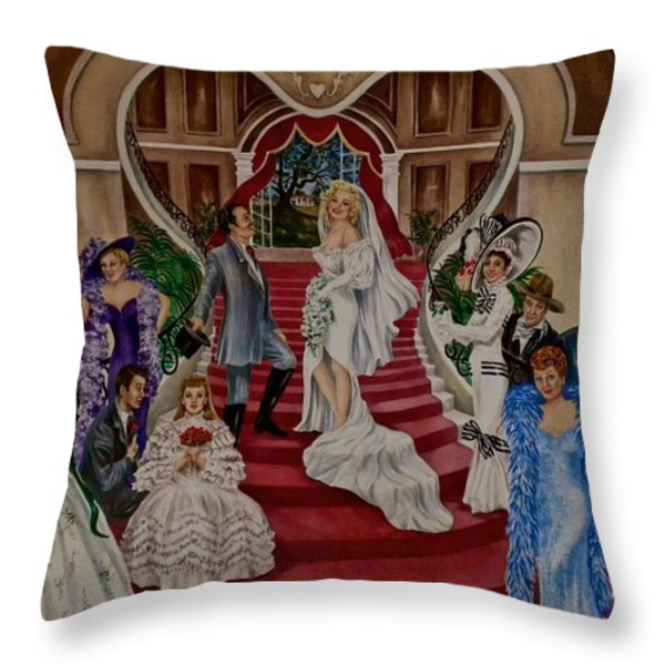 Hollywood Legends Throw Pillow by Jan Law