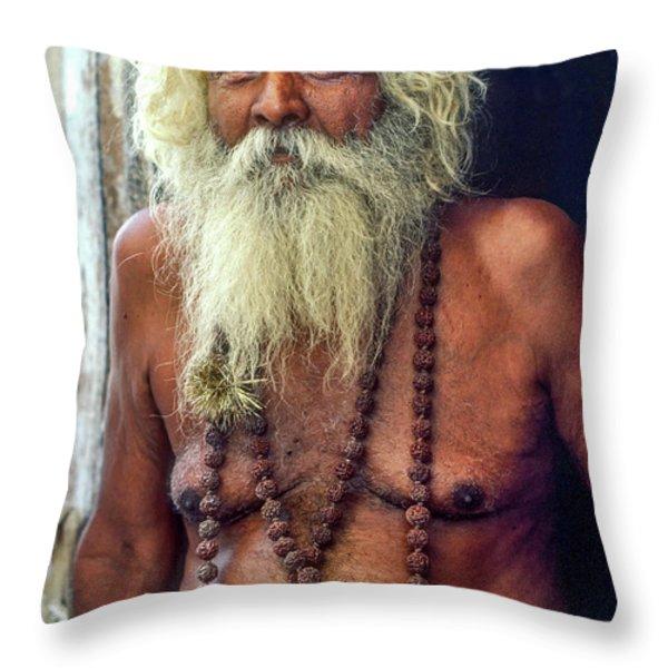 Holy Man Throw Pillow by Steve Harrington