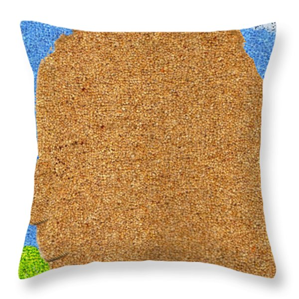 Homage to Seurat in Carpet Throw Pillow by Andy  Mercer