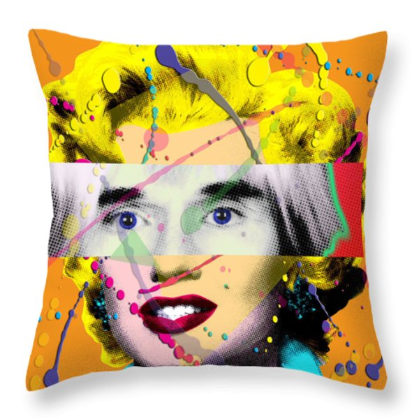 Homage To Warhol Throw Pillow by Gary Grayson