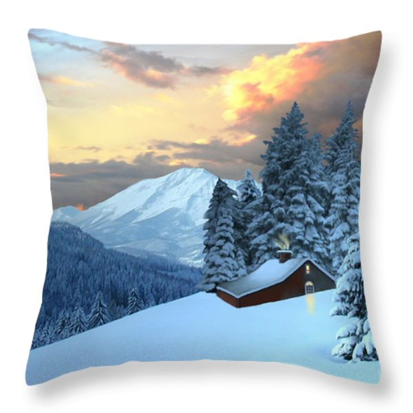 Home And Hearth Throw Pillow by Corey Ford
