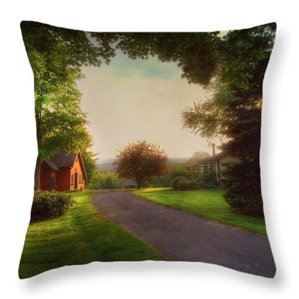 Home Throw Pillow by Joann Vitali