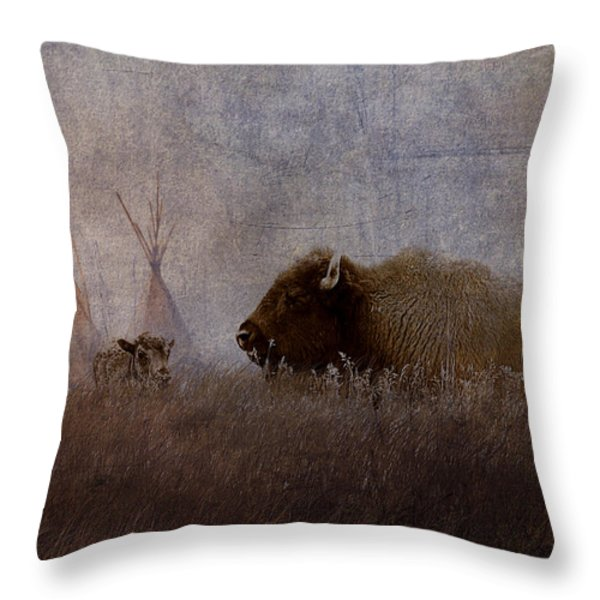 Home On The Range Throw Pillow by Ron Jones