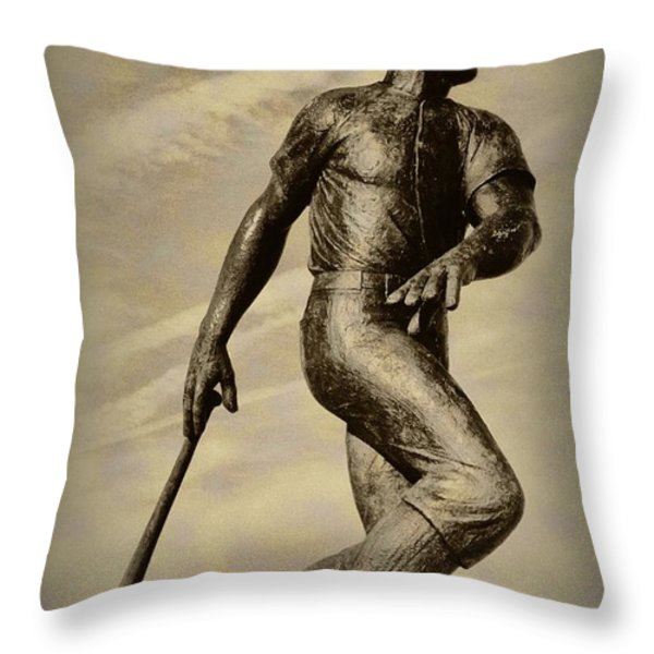 Home Run Throw Pillow by Bill Cannon