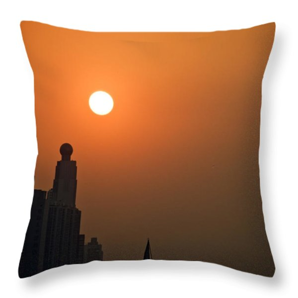 Hong Kong Coast Throw Pillow by Ray Laskowitz - Printscapes