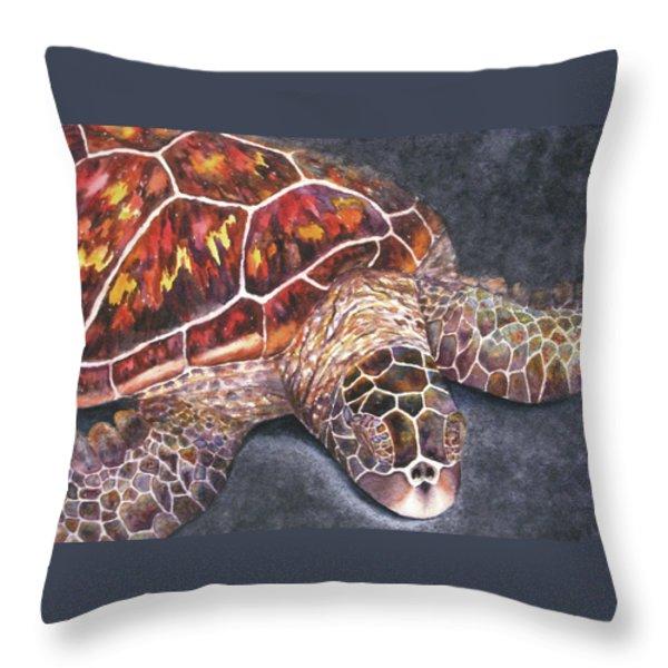 Honu Il Throw Pillow by Kerri Ligatich