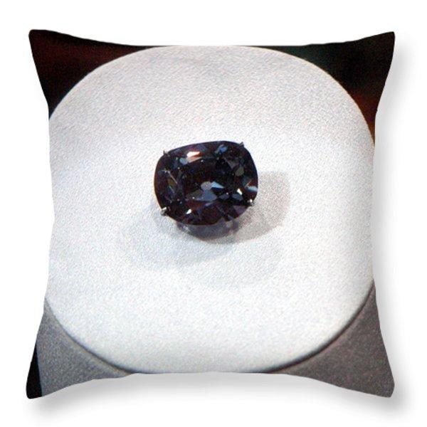 Hope Diamond 45.52 Carats Throw Pillow by LeeAnn McLaneGoetz McLaneGoetzStudioLLCcom