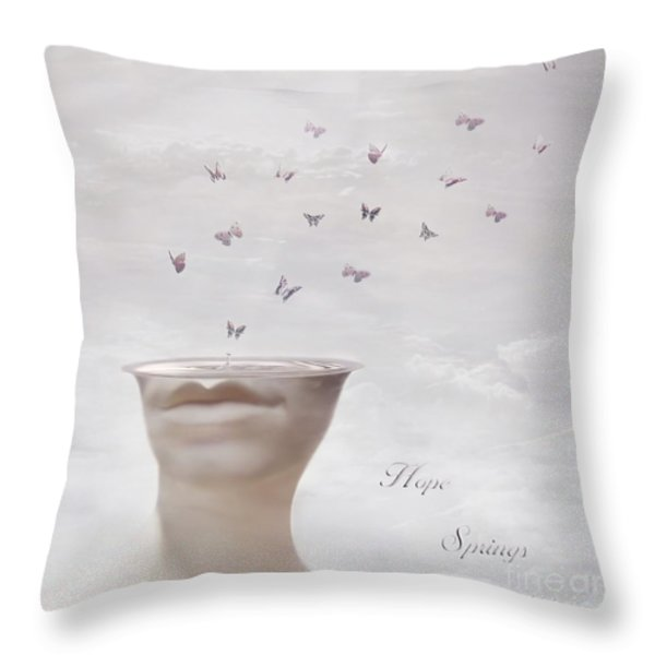 Hope Springs Eternal Throw Pillow by Photodream Art