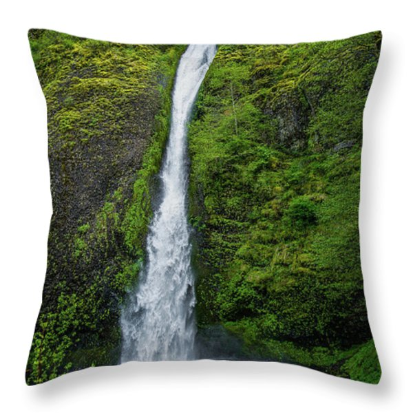 Horsetail Falls Throw Pillow by Jon Burch Photography