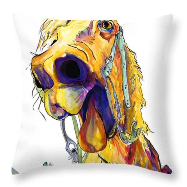 Horsing Around Throw Pillow by Pat Saunders-White