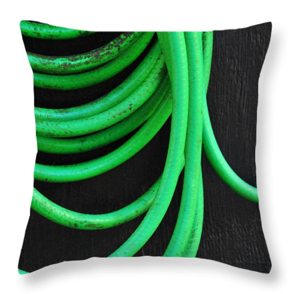 Hosed Throw Pillow by Skip Hunt