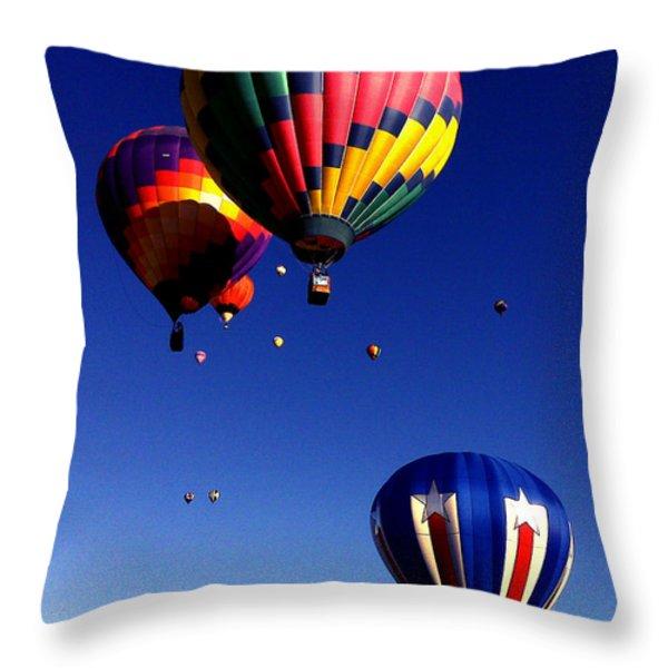 Hot Air Balloons Throw Pillow by Jera Sky