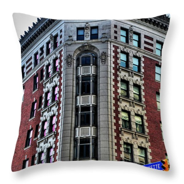 Hotel Lafayette Series 0003 Throw Pillow by Michael Frank Jr