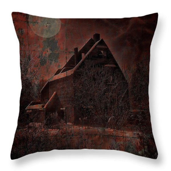 HOUSE WITH A STORY TO TELL Throw Pillow by Mimulux patricia no