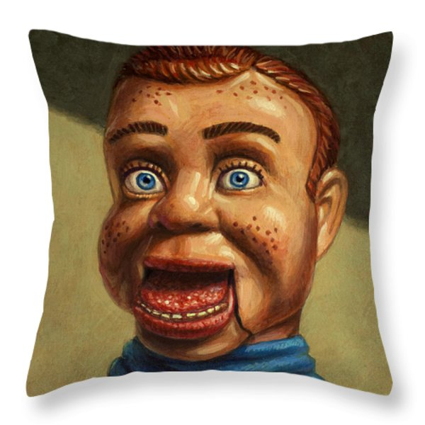 Howdy Doody dodged a bullet Throw Pillow by James W Johnson