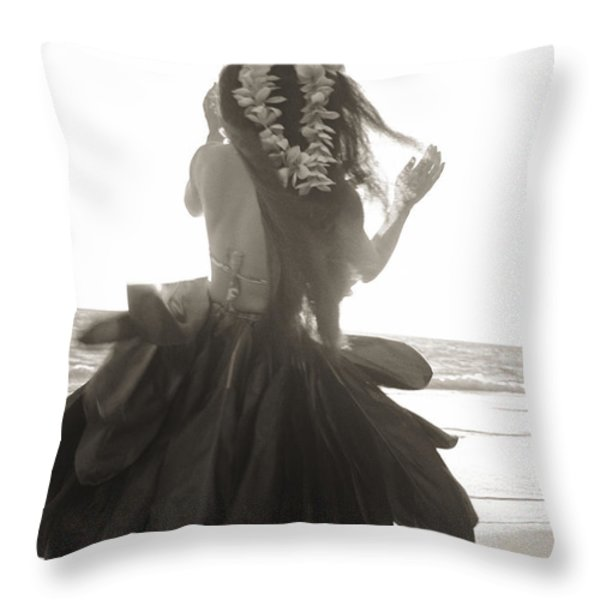 Hula Girl Throw Pillow by Tomas del Amo - Printscapes