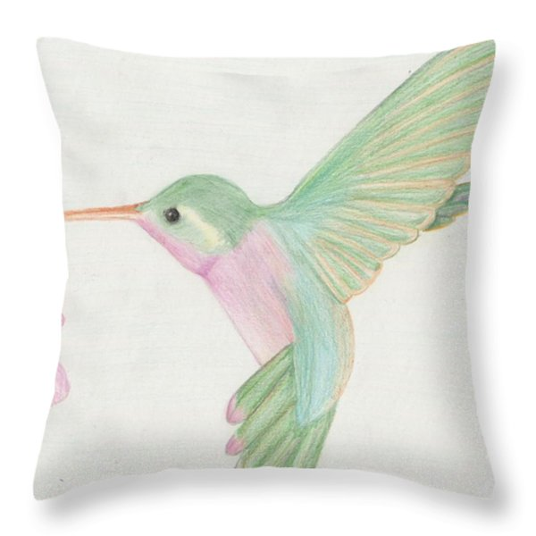 Hummingbird Throw Pillow by Joanna Aud