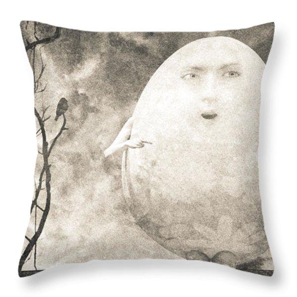 Humpty Dumpty Throw Pillow by Bob Orsillo