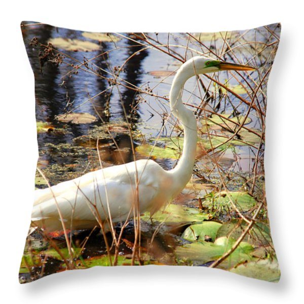 Hunting For Food Throw Pillow by Susanne Van Hulst