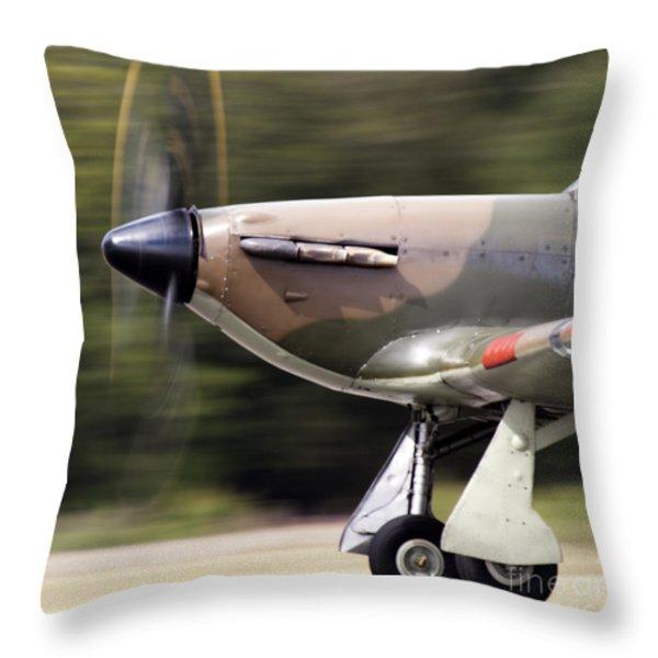 Hurricane Throw Pillow by Angel  Tarantella