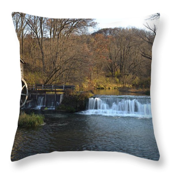 Hyde Mill Wisconsin Throw Pillow by Steve Gadomski