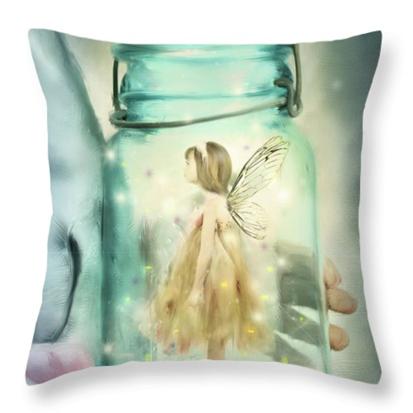 I Believe Throw Pillow by Stephanie Frey