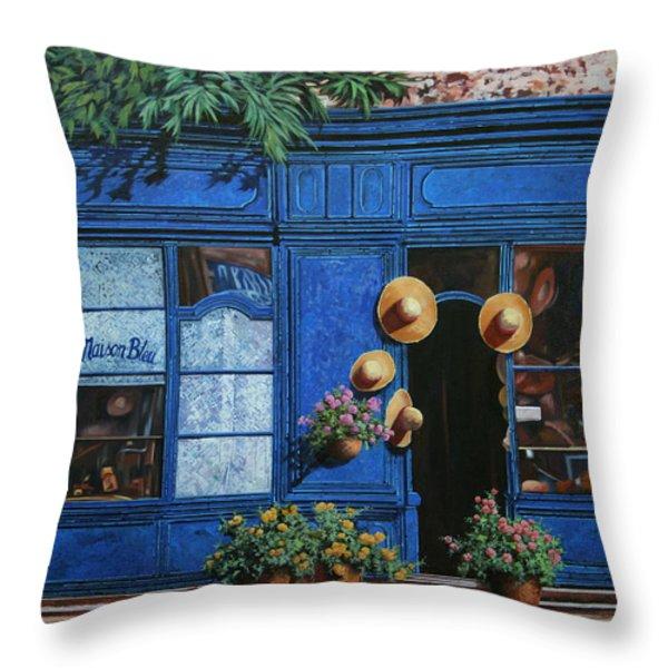 i cappelli gialli Throw Pillow by Guido Borelli
