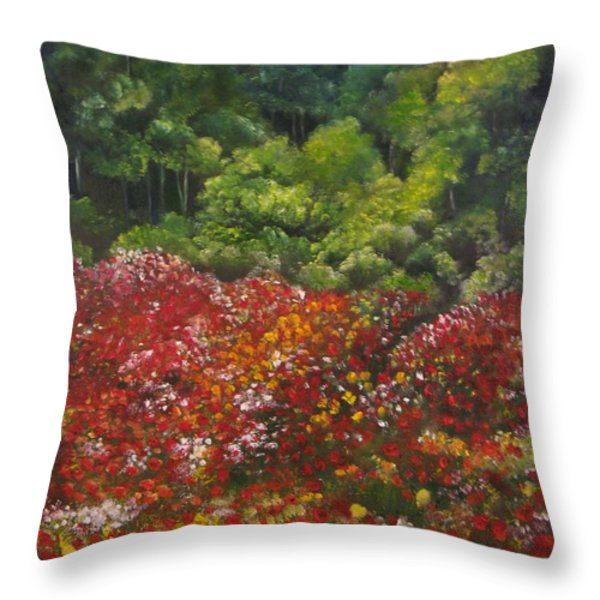 I Dream Of Poppies Throw Pillow by Carol Sweetwood
