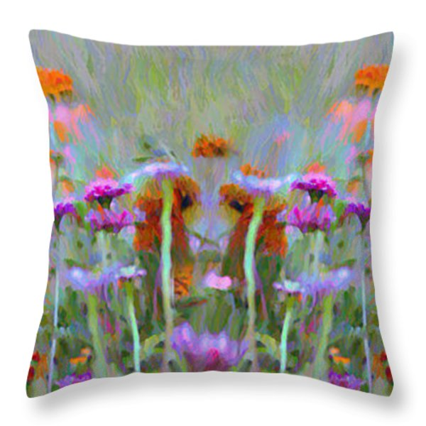 I Got To Get Back To The Garden Throw Pillow by Bill Cannon