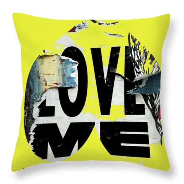 I love me Throw Pillow by adSpice Studios