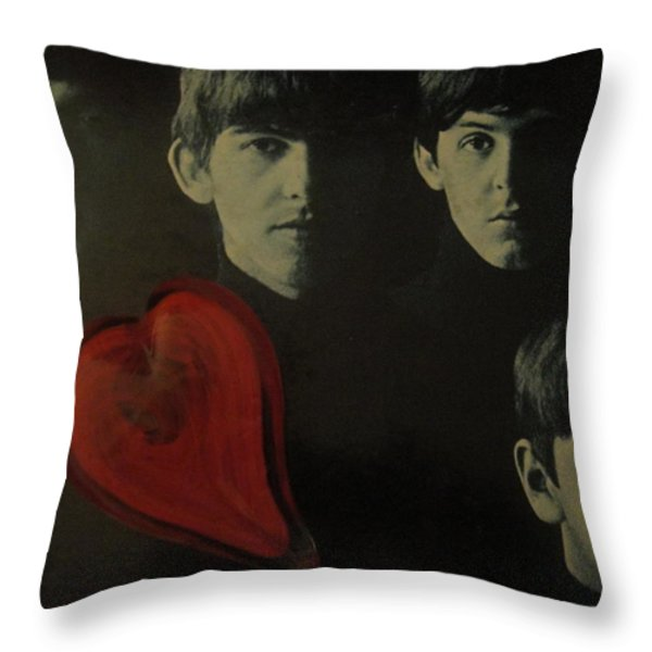 I Love The Early Beatles Music Throw Pillow by WaLdEmAr BoRrErO