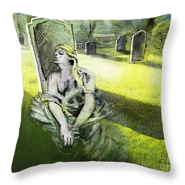 I Wish You Were Here Throw Pillow by Miki De Goodaboom