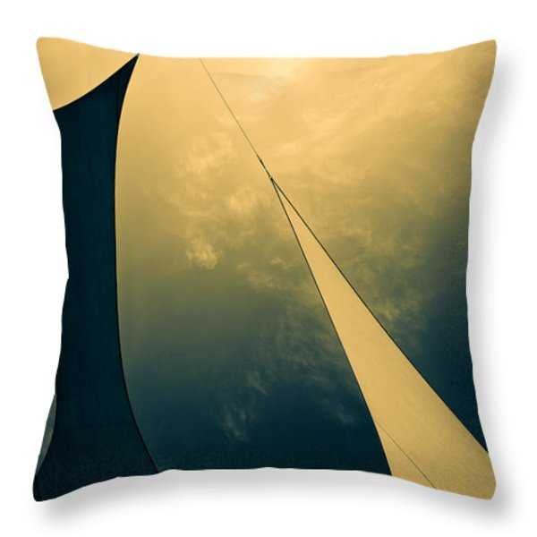Icarus Journey to the sun Throw Pillow by Bob Orsillo