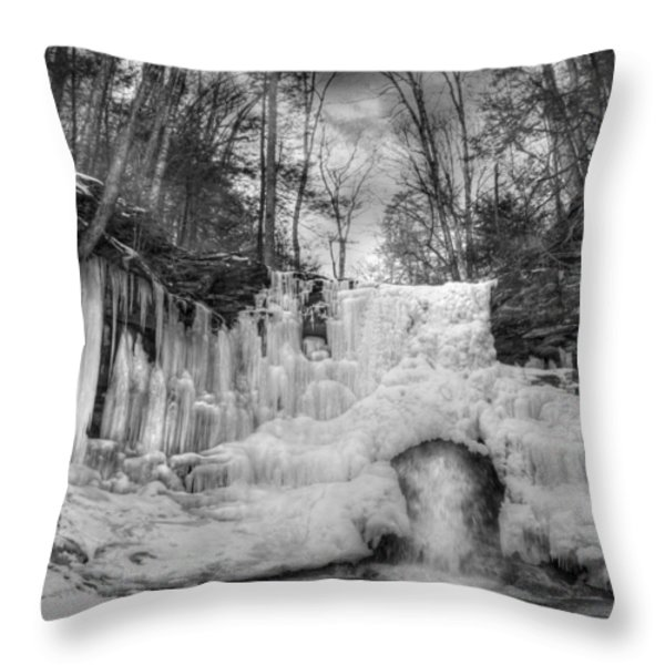 Ice Castle Throw Pillow by Lori Deiter