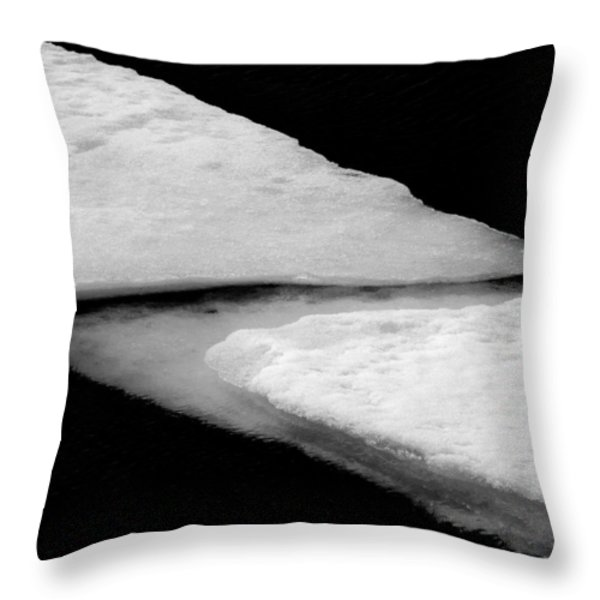 Ice Flow Throw Pillow by Dave Bowman