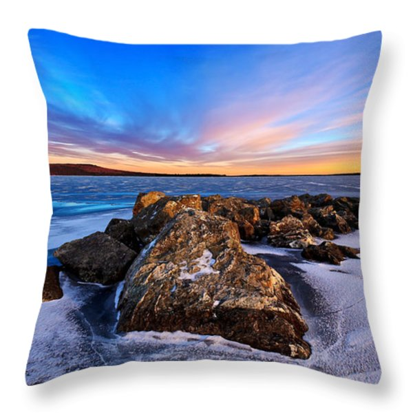 Icebound 2 Throw Pillow by Bill Caldwell -        ABeautifulSky Photography