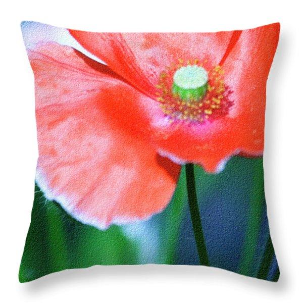 Icelandic Poppy Throw Pillow by Bonnie Bruno