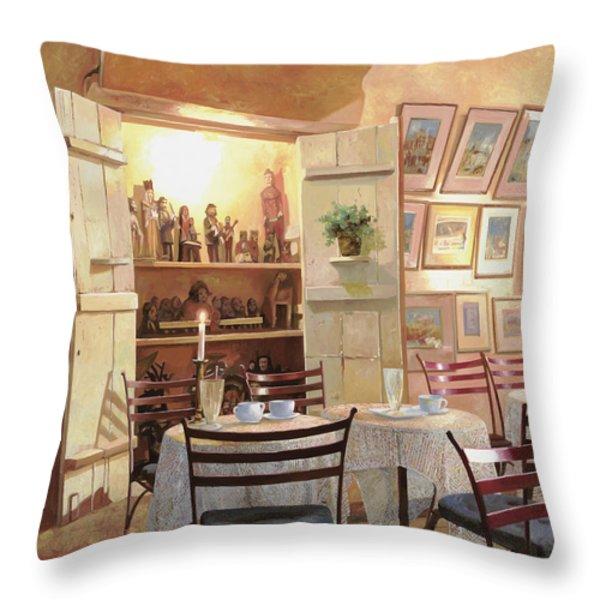 Il Caffe Dell'armadio Throw Pillow by Guido Borelli