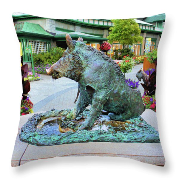 Il Porcellino Throw Pillow by Lawrence Christopher