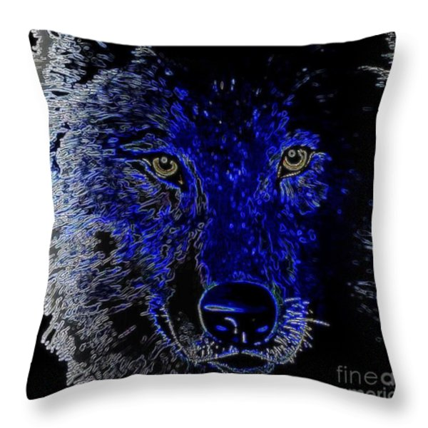 I'll Be Watching You Throw Pillow by WBK