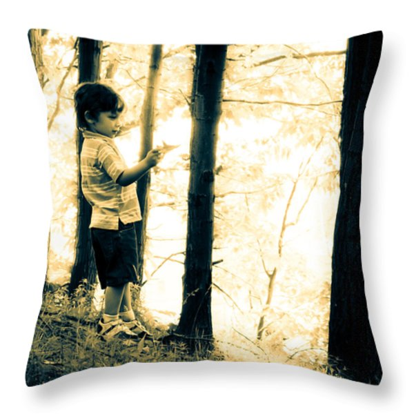 Imagination and Adventure Throw Pillow by Bob Orsillo
