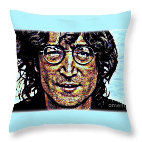 Imagine No Religion Throw Pillow by WBK