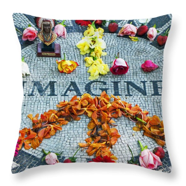 Imagine Peace Throw Pillow by Sharla Gentile