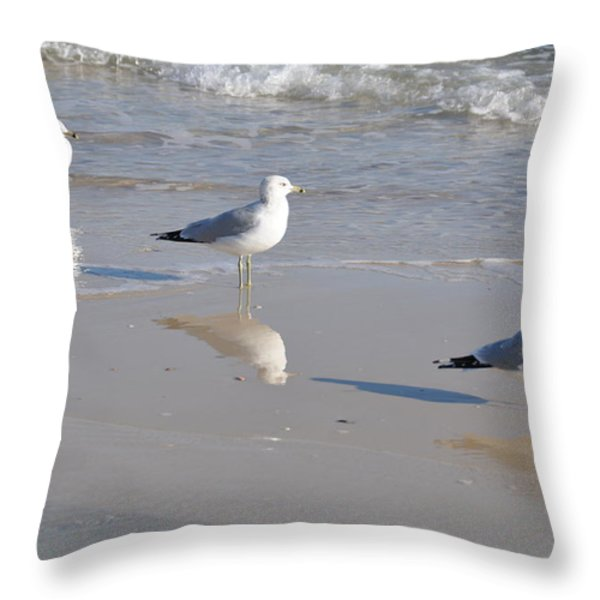 In A Row Throw Pillow by Jan Amiss Photography