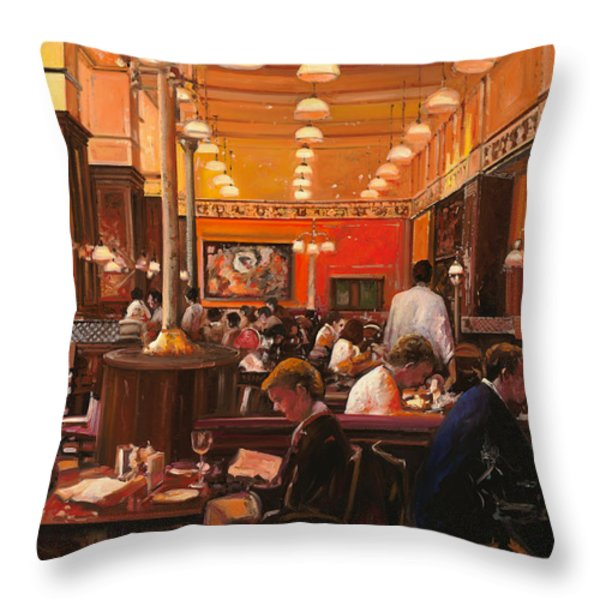 in birreria Throw Pillow by Guido Borelli