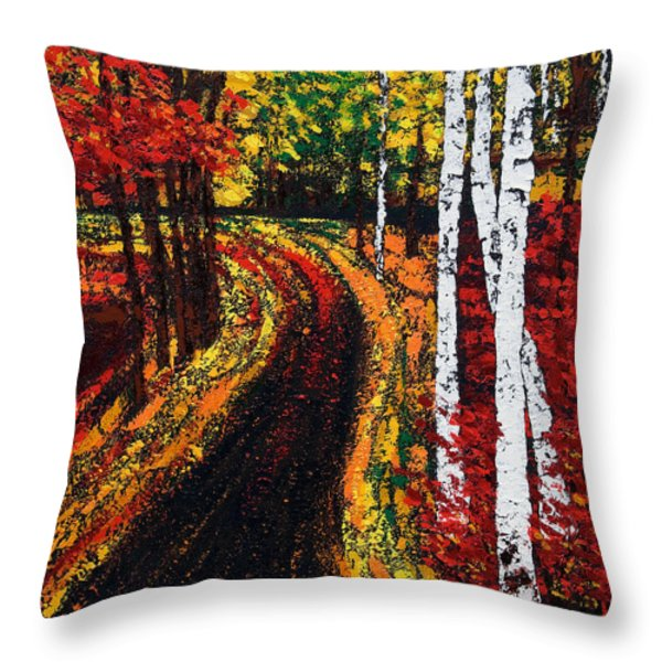 In Full Swing  Throw Pillow by Mauro Celotti