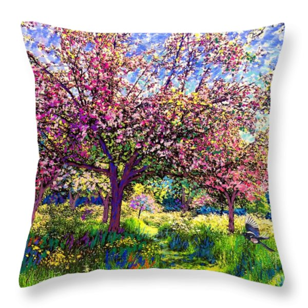 In Love with Spring Throw Pillow by Jane Small